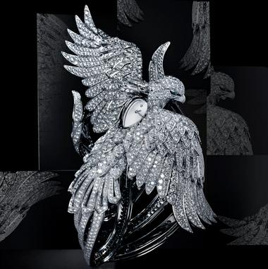 Montre à secret Phoenix serti d'un diamant poire et de 3010 brillants (80,13 carats). Cartier 2010